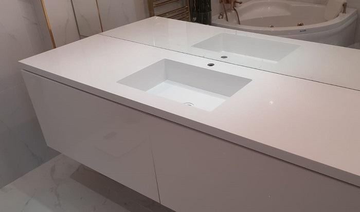 Bakırköy Corian Banyo Tezgahı
